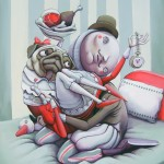 Zed1, marco buressi, street art, urban art, stick together gallery